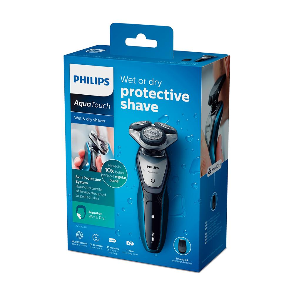 Afeitadora eléctrica uso Seco y Húmedo Cuchillas Super Lift & Cut - S5420/04